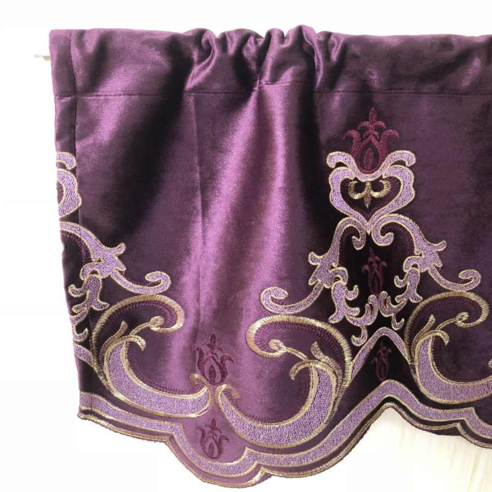 Окна балдахин Европейский вышивка шторы стекались простыня стержень карман 1 шт. Окна s для спальня s Swag A15-40