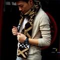 2015 Outono Inverno Marca Homens Designer de Cachecol de Tricô de Lã Cachecóis Masculinos Presente de Aniversário Clássico Jacquard Quentes Unissex bufandas NWJ056