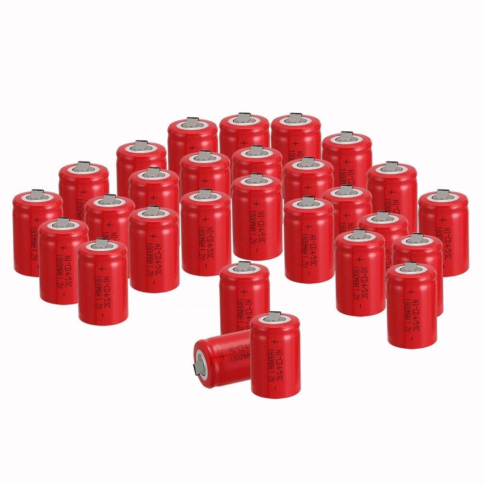 Prix pour Russe vendeur! marque new30PCS Ni-Cd 4/5 SubC Sous C batterie Rechargeable Batterie 1.2 V 1800 mAh avec Tab 3.3 cm x 2.2 cm