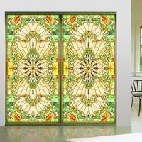 European churches color frosted glass vials balcony bathroom windows bathroom mats wardrobe shading stickers