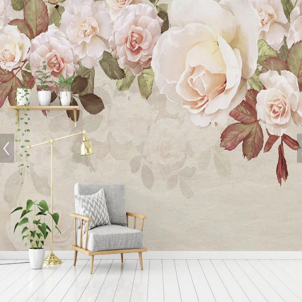 Flower Wallpaper Mural Hd Large Size Wall Mural For The Walls 3d Tv Bedroom Wallpaper Home Wall Decorative Custom Any Size Wallpapers Aliexpress