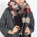 Za Cachecol de Inverno 2016 Lenço da Manta de Tartan Pashmina Novo Designer de Cachecol Cobertor de Luxo das Mulheres Lenços e Wraps 210*85 cm