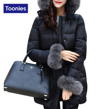 2017 New Fashion Black Womens Winter Jackets Long Sleeved Winter Coat Women Outerwear Slim Long Womens Winter Jackets And Coats