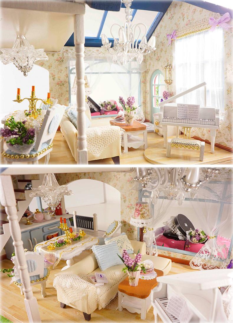 Cutebee Provence Lavender DIY Dollhouse