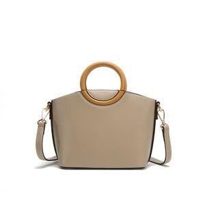 Image 5 - JIANXIU Brand Women Pu Leather Handbag Round Portable Design Tote Bag 2019 Female Shoulder Messenger Bags Double Shoulder Straps