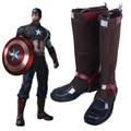 2016 Nuevo 3D Película de Marvel Capitán América Guerra Civil Cosplay Capitán América 3 Botas Zapatos de Anime Por Encargo