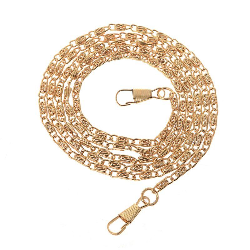 120cm New Metal Purse Chain Strap Handle Shoulder Messenger Crossbody Bag Handbag Replacement