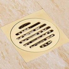 Делюкс Золотой Латуни Твердого Т-типа Пол Наполнителя Анти-запах Ванная Комната Трапных Душ Сточных Вод, Фильтр
