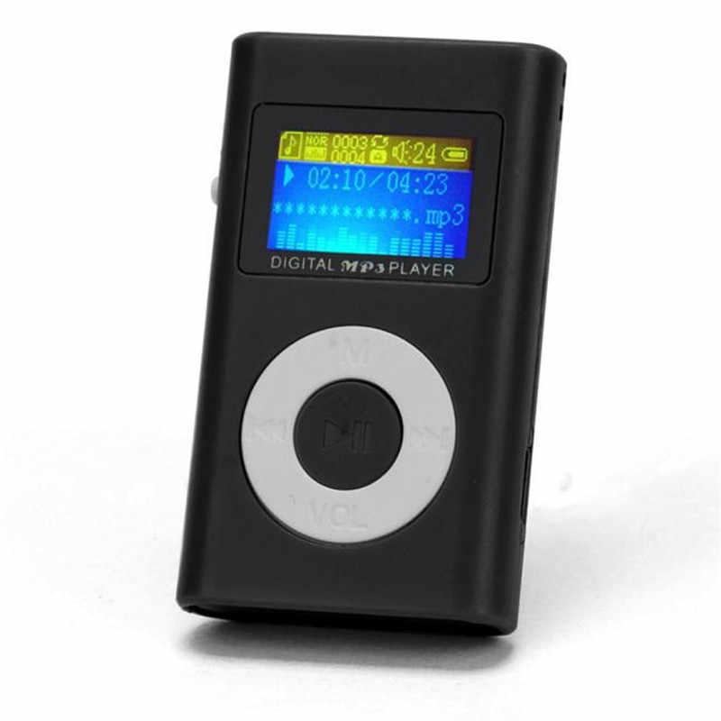 Mini reproductor de música HiFi USB reproductor de MP3 walkman reproductor de mp3 estudiantes corriendo Lettere soporte de pantalla LCD 32GB Micro SD TF tarjeta