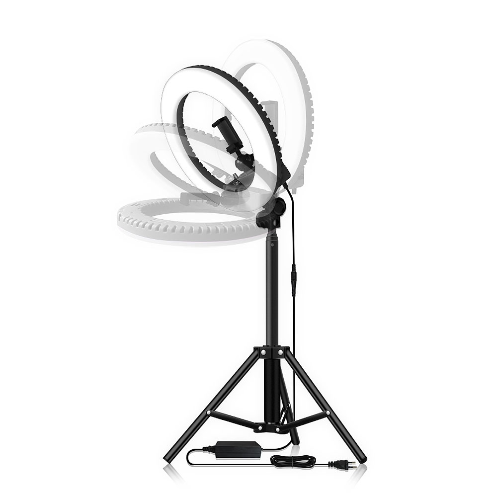 Image 2 - Dimmable Selfie LED Ring Light 14 Photography Ring Lamp with Tripod 1.6M for Beauty Makeup Photo Studio lighting Live Stream-in Photographic Lighting from Consumer Electronics