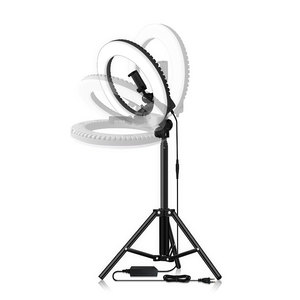 Image 2 - Dimmable Selfie LED Ring Light 14 Photography Ring Lamp with Tripod 1.6M for Beauty Makeup Photo Studio lighting Live Stream