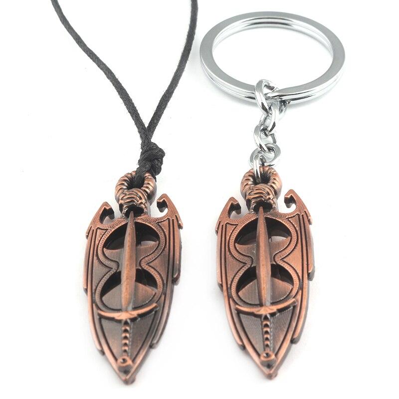 Модные украшения игра The Elder Scrolls 5 Dargon крутящий момент Skyrim динозавров Винтаж регулируемая подвеска Цепочки и ожерелья брелок для ключей