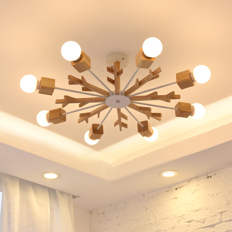art ceiling lamps living room solid wood 3/6/8 heads study bedroom log lamp Korean fresh antlers ceiling light ZA82430 got7 got 7 youngjae kim yugyeom autographed signed photo flight log arrival 6 inches new korean freeshipping 03 2017