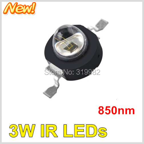 500pcs lot LED IR Diode 3W 850nm red storm Far Emitter Diode Chip Beads Ball Infrared