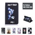 Для Samsung Galaxy Tab A 7.0 SM-T280 285 Funda Мультфильм И Цветок печати Pu Кожаный Чехол Case Бесплатный Пленка И Стилус В Качестве Подарка