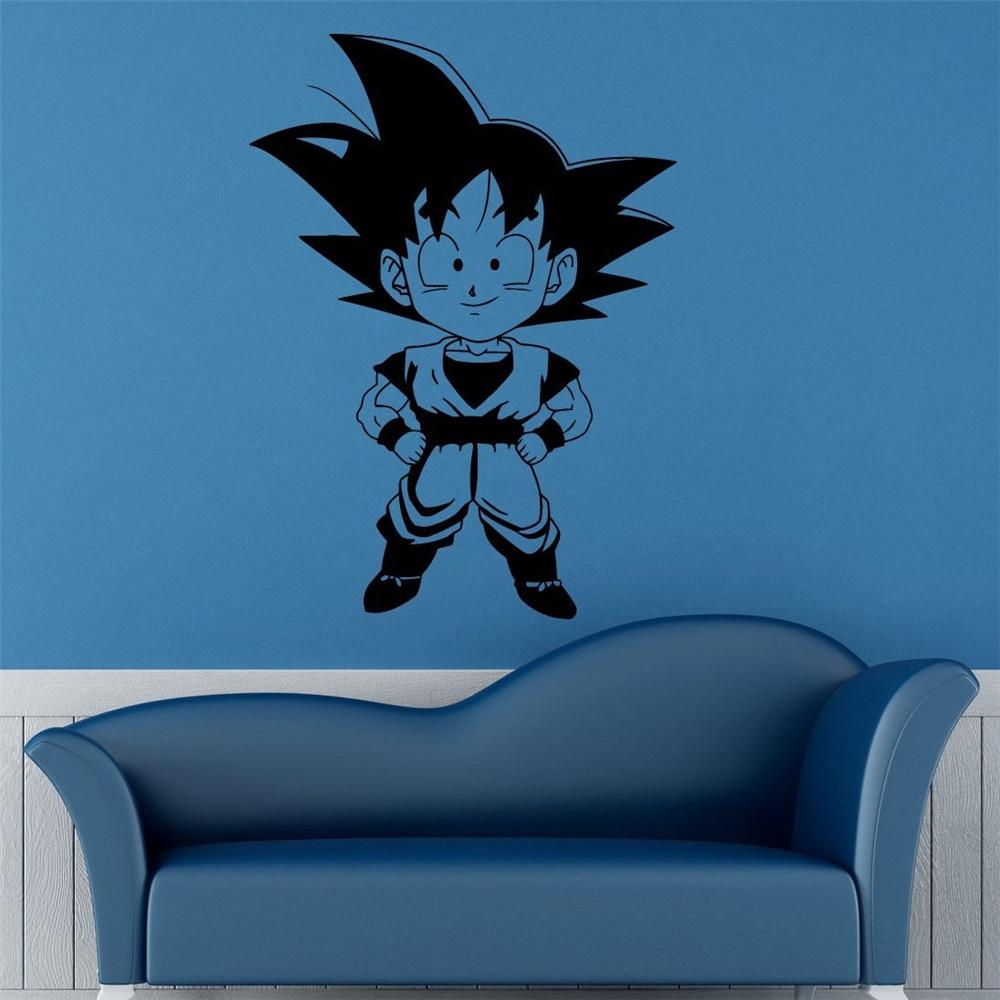 Japanese anime Dragon Ball Cute Monkey Cartoon Wall Stickers home decoration Boys Bedroom Decor Vinyl Removable