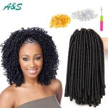 14inch faux locs crochet hair dreadlocks braids havana mambo twist crochet braid hair soft dread hair extensions synthetic weave