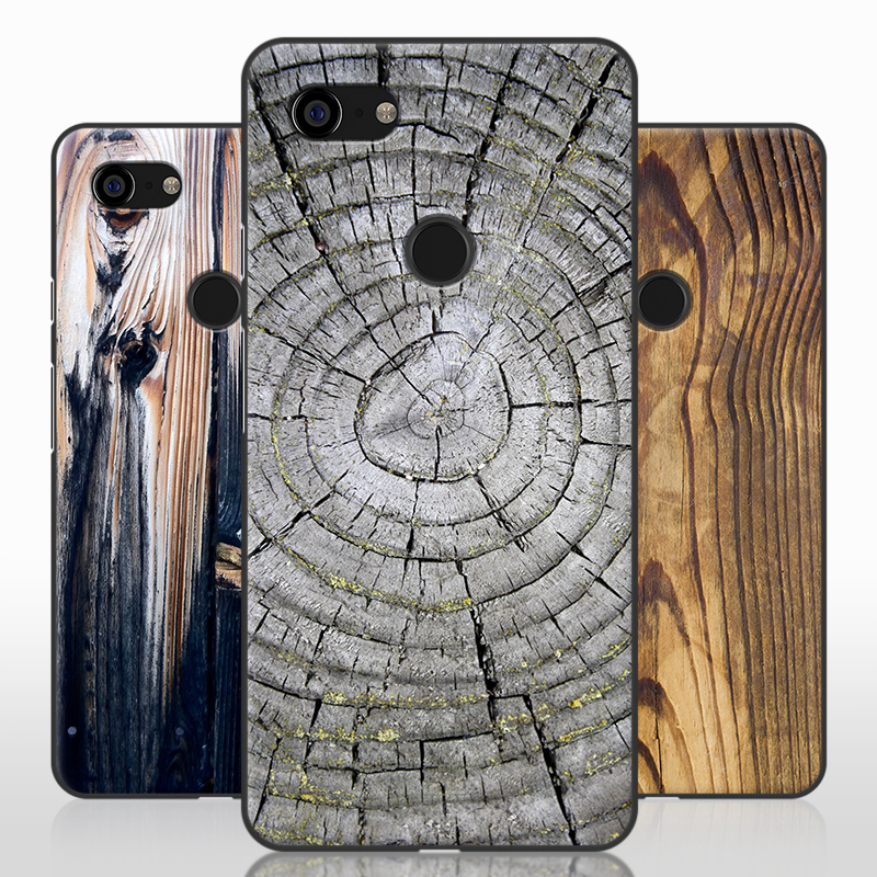 For Google Pixel3 Case,Purecolor Stone Wood Grain Painted All Inclusive Soft TPU Shell Back Cover Case For Google Pixel 3