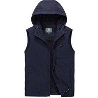 New business casual vest men's hooded copycat shoulders quick waistcoat