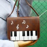 Phụ nữ Túi Đàn Piano Pattern Lady Crossbody Shoulder Bag Di Động Nhỏ Phím điện thoại Túi Messenger Flap Bìa Túi Chất Lượng Tốt Tiền Purse