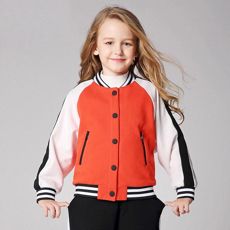 New girls baseball suits big boys kids warm sports jacket orangeNew girls baseball suits big boys kids warm sports jacket orange