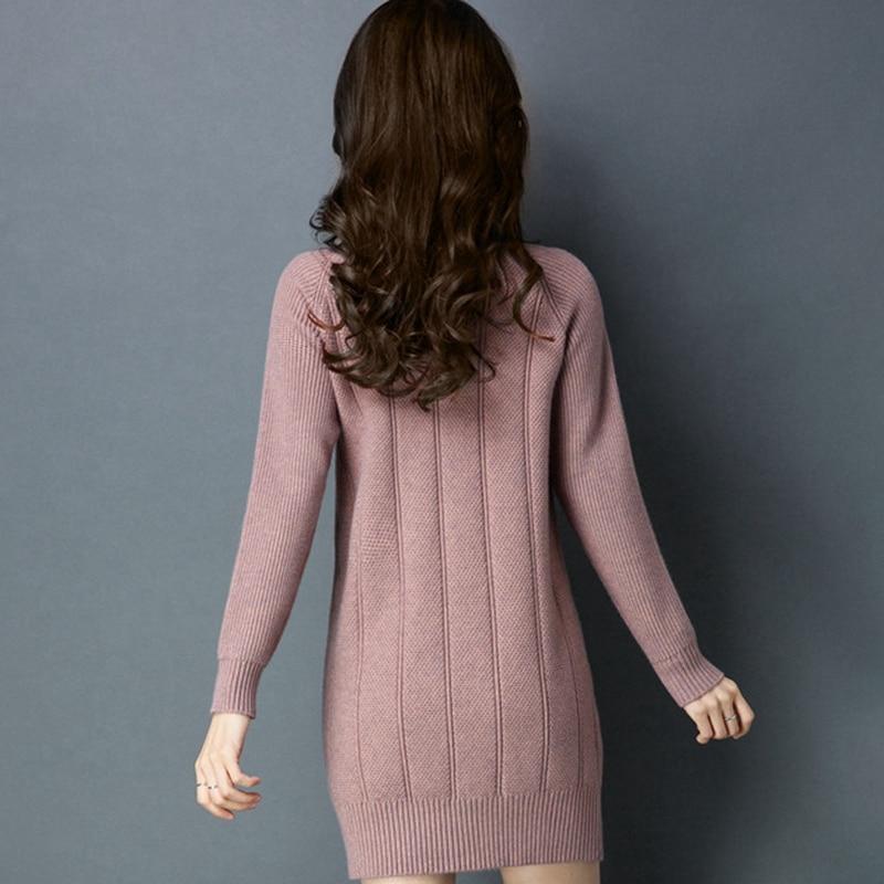 Ropa Nuevo Color caramel Mujer Interior Punto black Sólido pink Suéter 2019 Invierno De Jersey Moda Tamaño Otoño Beige khaki S393 Las Mujeres r0WvqOI1r