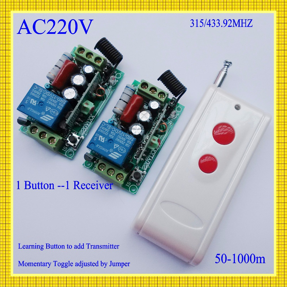 AC220V  10A Relay Remote Control Lighting Switch 315/433MHz Transmitter 2 Receiver  Long Range Remote Switch Momentary Toggle mooto taekwondo helmet mma karate muay thai kick training helmet boxing head guard protector headgear sanda protection red blue