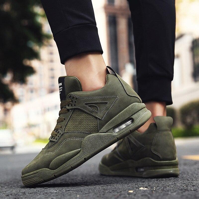 Calçado Andando verde Apartamentos De Novos Sapatos Preto Até Rendas cinza Marca Designer Respirável Homens Masculinos Casuais qxxI7wXAZ