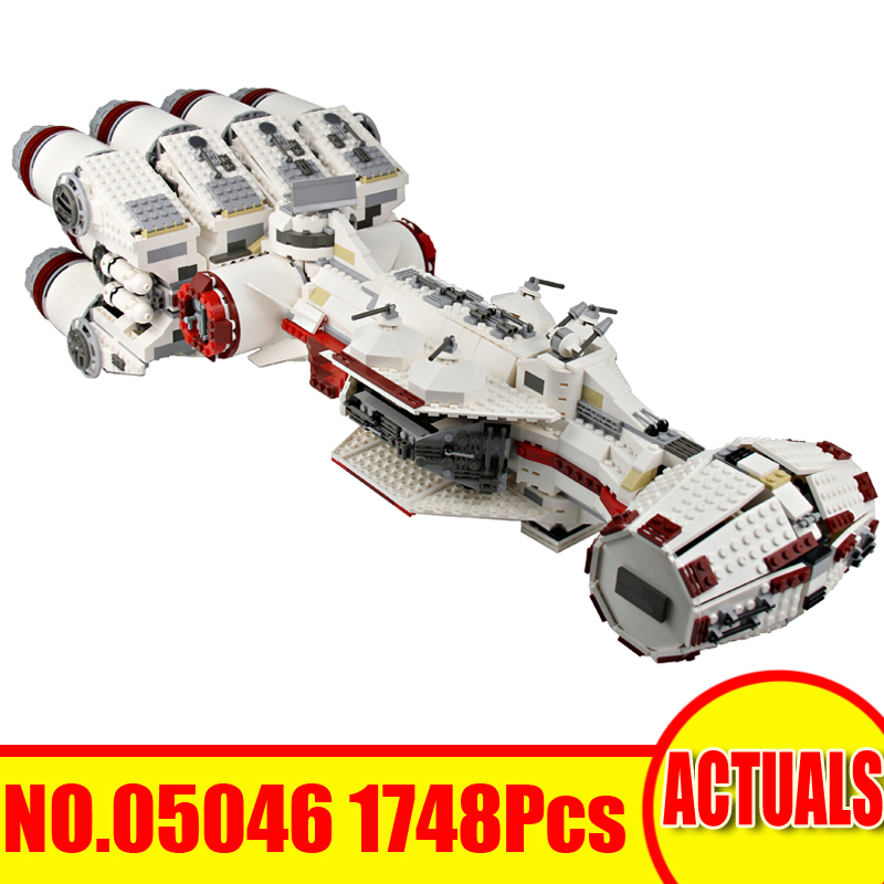 Lepin 05046 1748Pcs Star Wars Tantive IV Rebel Blockade Runner LegoINGly 10019 Building Blocks Bricks Set Model Toy For Children 2017 new lepin 05046 1748pcs star war tantive iv rebel blockade runner model building kit blocks brick toy gift 10019 funny toy
