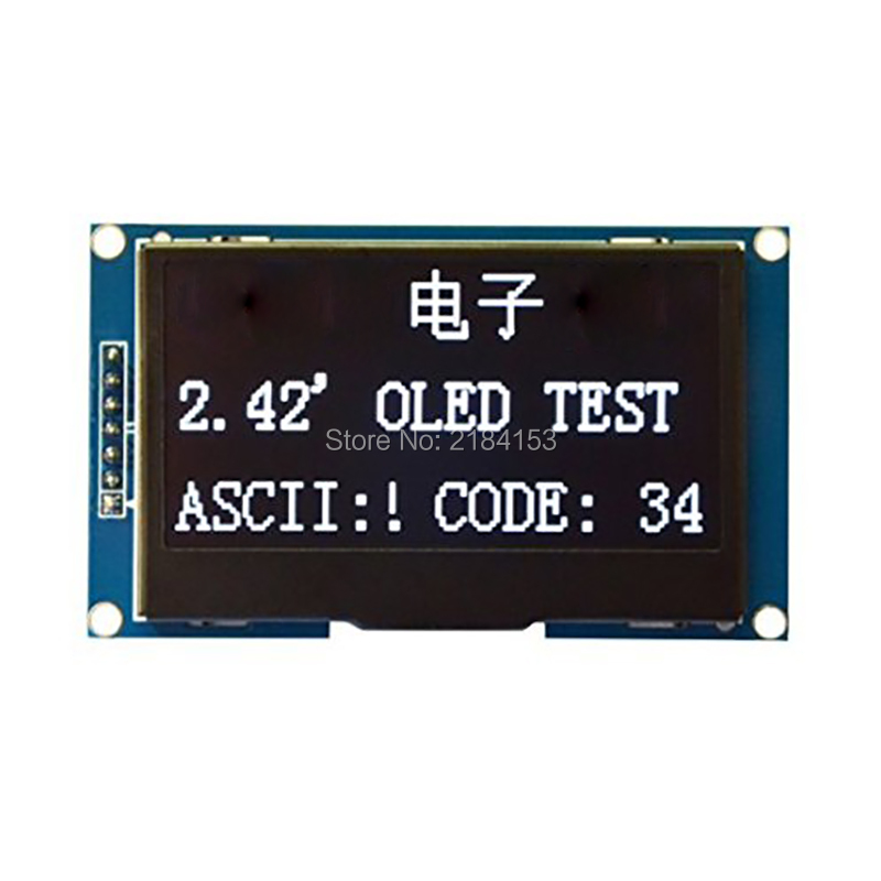 Wholesale 2.42 12864 SSD1309 OLED Display Module IIC I2C SPI Serial FOR C51 STM32 White 1 3 inch 128x64 oled display module blue 7 pins spi interface diy oled screen diplay compatible for arduino