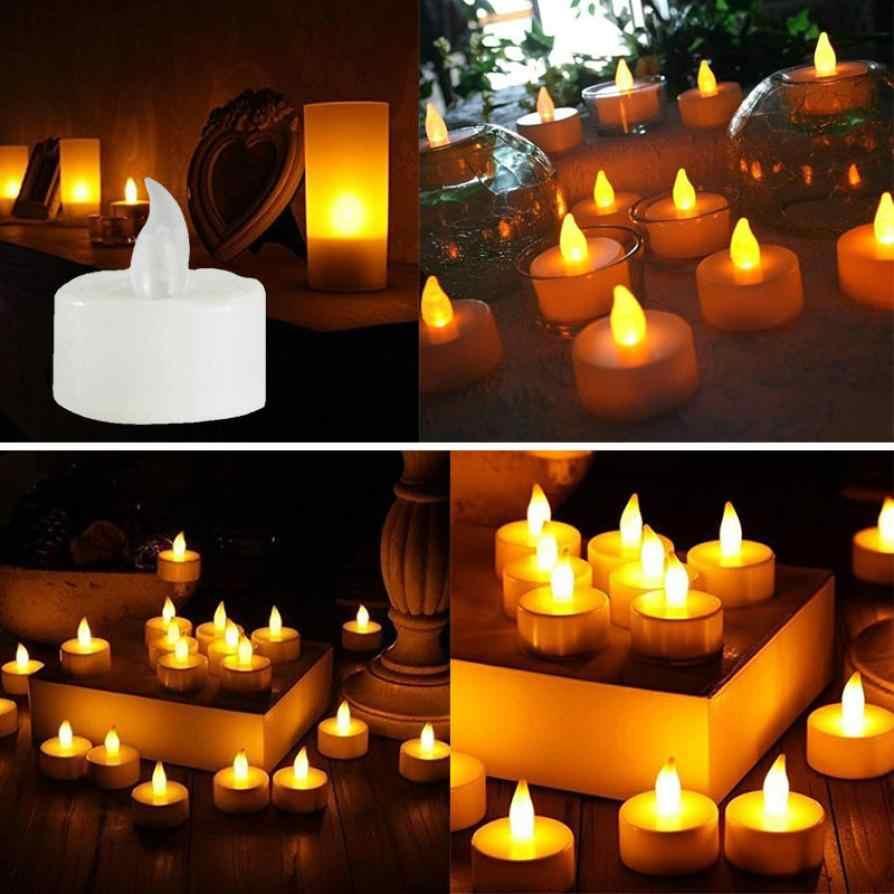 Свечи 6 шт. светодиодный чайный свет свечи реалистичные на батарейках беспламенные Свечи Прямая доставка 2018a29