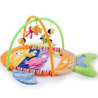 Peixes coloridos Tapetes de Jogo Do Brinquedo Do Bebê Portátil Bebê Crianças Esportes Ginásio Jogo Cobertor Rastejando Pad Educacional