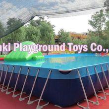 Над земной металлической рамой плавучий бассейн, детский бассейн, Пластиковый Болотный бассейн