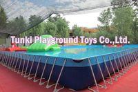 Над землей металлический каркас плавающий бассейн, детский бассейн, пластиковые болотные бассейн