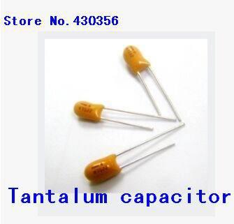10PCS   35V1UF   105L   DIP  Tantalum  Capacitor