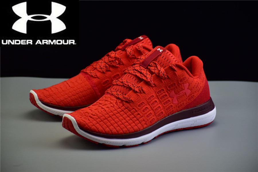 womens red under armour shoes