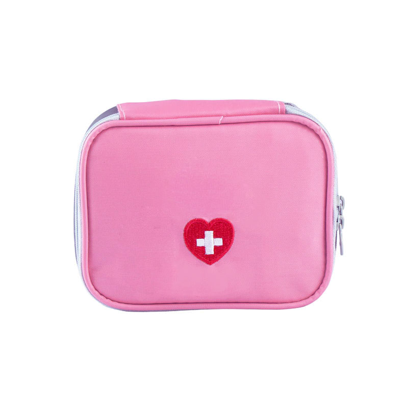 Pink Gray Travel Mini First Aid Kit Bags Survival Emergency Kit Pill Storage Bag Waterproof Nylon Outdoor Medicine Bag new medicine outdoors camping hunt pill storage bag travel first aid bag survival kit emergency kits