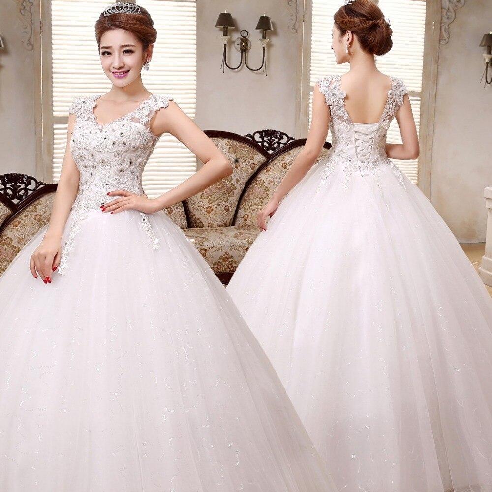 free shipping new luxury wedding dresses white bride vestidos de novia princess wedding gowns design bridal