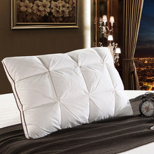 Bread White Duck/Goose Down Feather Pillow Standard Antibacterial Elegant77(China)