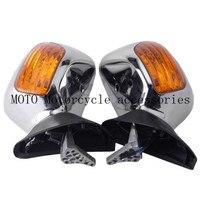 Мотоцикл зеркала с световые сигналы Зеркало заднего вида мотоцикл зеркало заднего вида для Honda Goldwing GL1800 2001 2012 2011