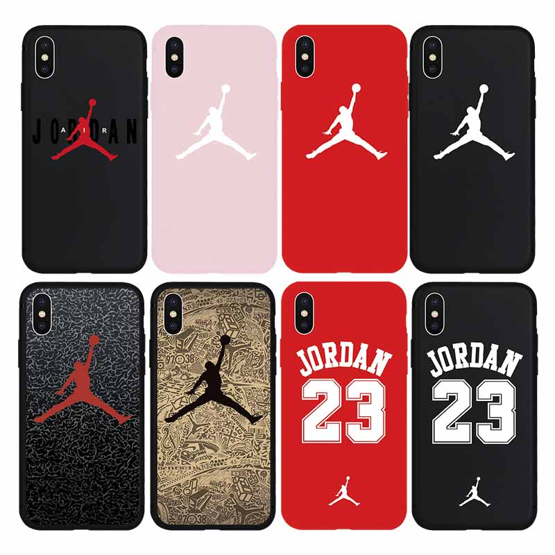 big sale 321f3 bd9ba Sport Jordan Air Jump Man Soft TPU Iphone X Xs Max XR 6 6S Plus 8 8Plus 7  7Plus 5S Phone Cover Cases