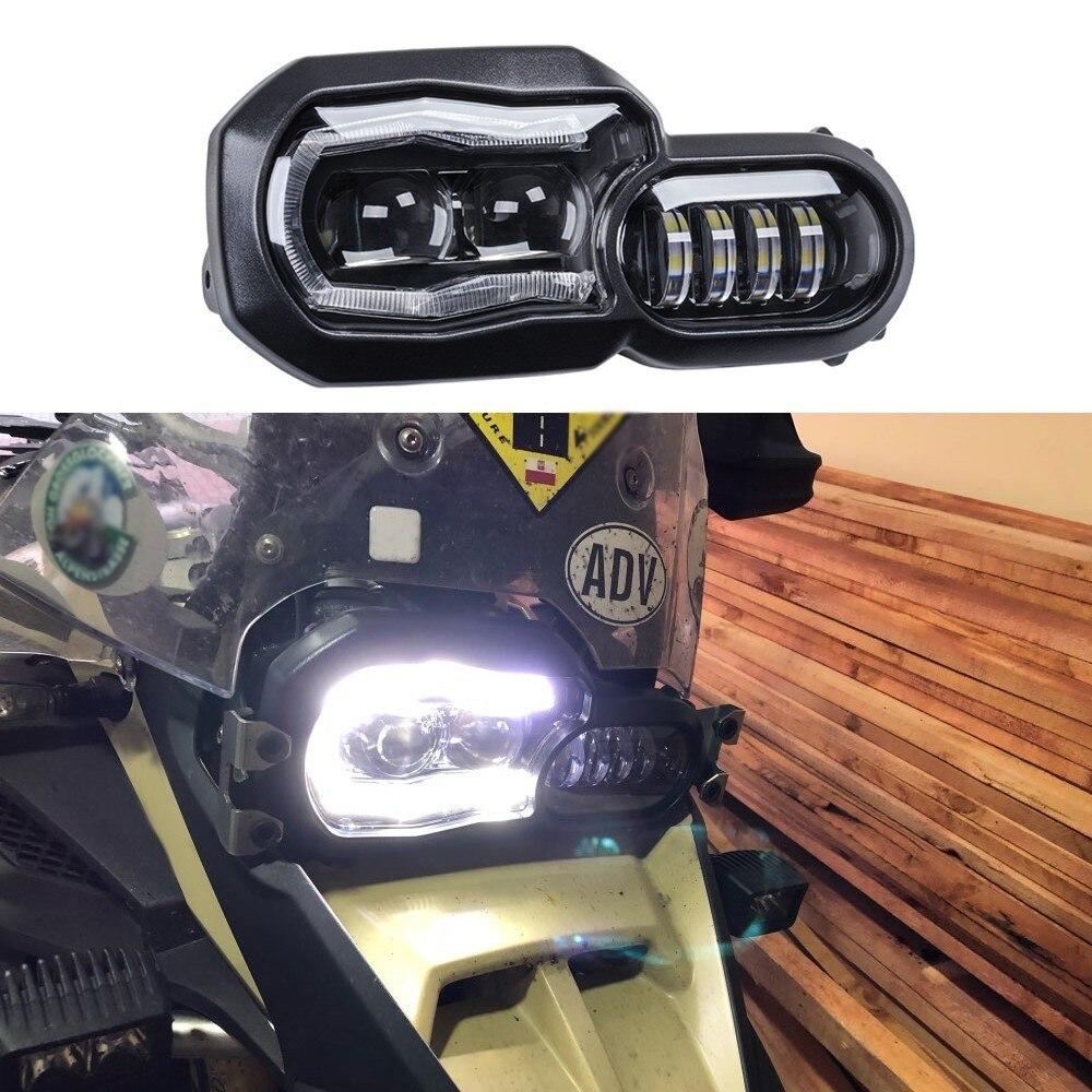 KEMiMOTO para BMW F700GS F800GS Aventura F800 F650 Farol 2013-2016 Completa LED conjunto Do Farol Projetor Com Ângulo de Olhos