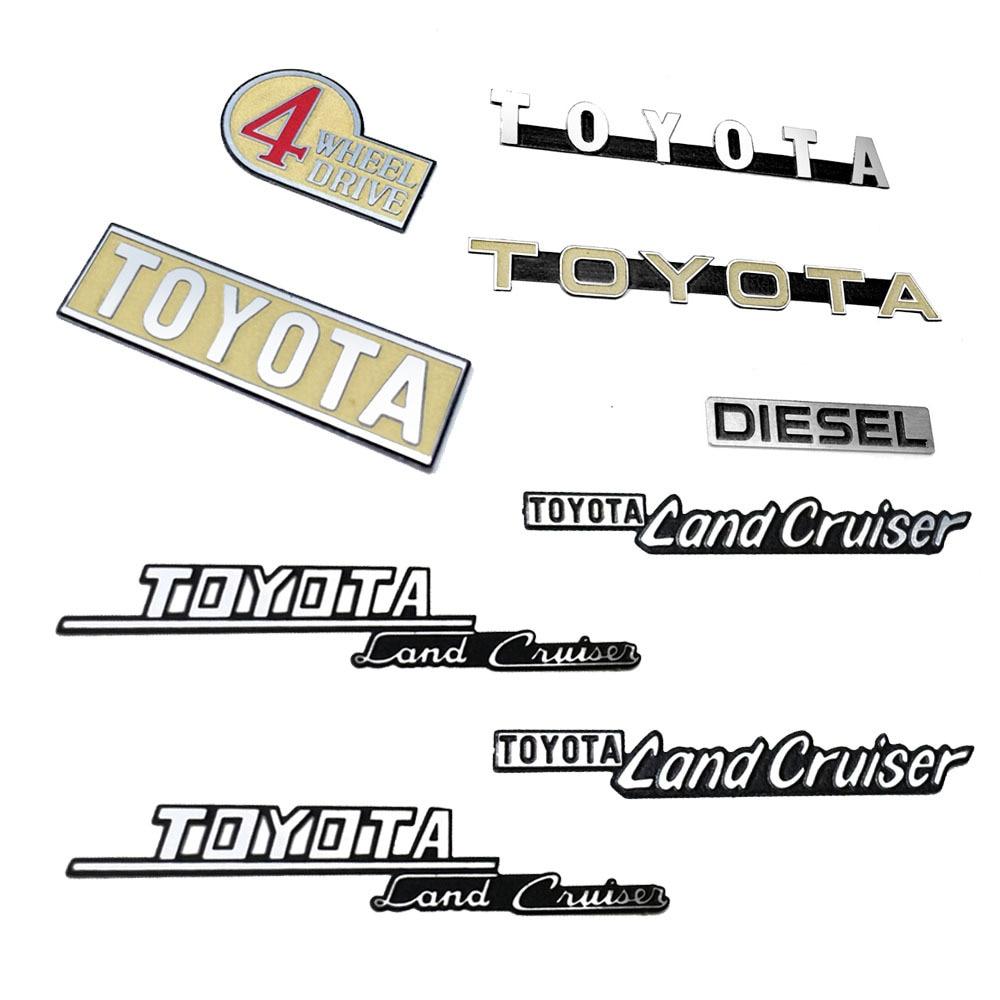 1/10 scale RC metal logo labels For RC8WD Gelande II Cruiser/FJ40 Wrangler Toyota G2 Hilux PAJERO cc01 Hraxxas TRX4 BRONCO d90(China)