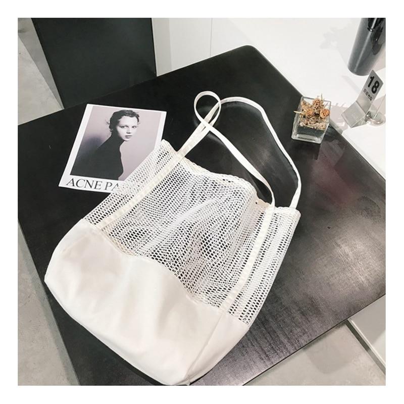 YIFANGZHE Beach-Bags Travel Fashion Cotton Women for School Durable Girls