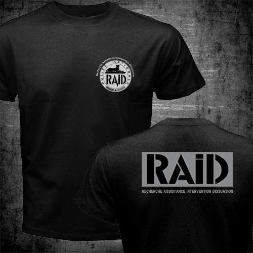 BRI POLICE t-shirt Raid t-shirts GIGN t-shirt US standard plus - Herretøj - Foto 2