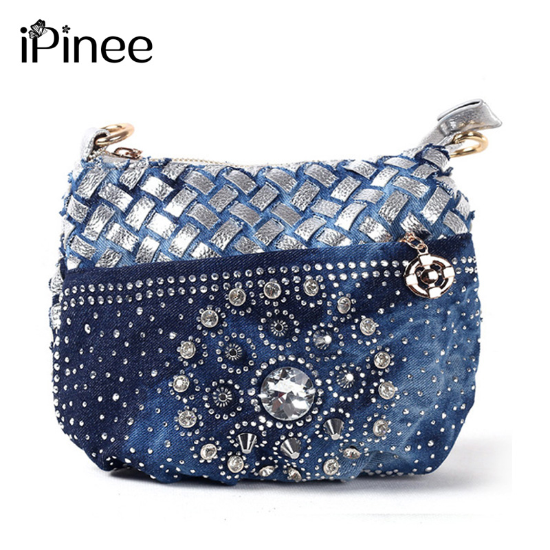 iPinee Famous designer bags 2017  fashion jean coin purse small bag  ladies vintage evening wallets women messenger bag fashion coin purse wallets mini bag league creative personality canvas bags cartoon storage bags for cardholder in ear headphone