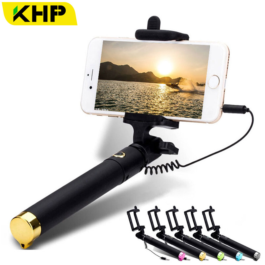 Купить HOT KHP Portable Selfie Stick For iPhone 6 6S Plus 4 4S 5 5S Android Samsung Galaxy s4 s5 s6 LG Sony Zenfone Metal Tube Selfie в интернет-магазине дешево