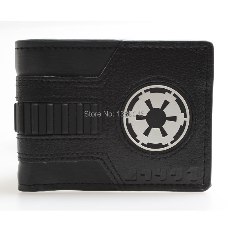 Star Wars Galactic Empire Black Bi-fold wallet  young students personality DFT-1044 star trek command metal logo bi a fold wallet dft 1404