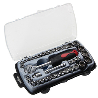ZtDpLsd 40Pcs/Lot Car Ratchet Wrench Set 1/4 4 14 Mm Sleeve For Motorcycle Bicycle Repair Tools Kit Precision Socket Hardware