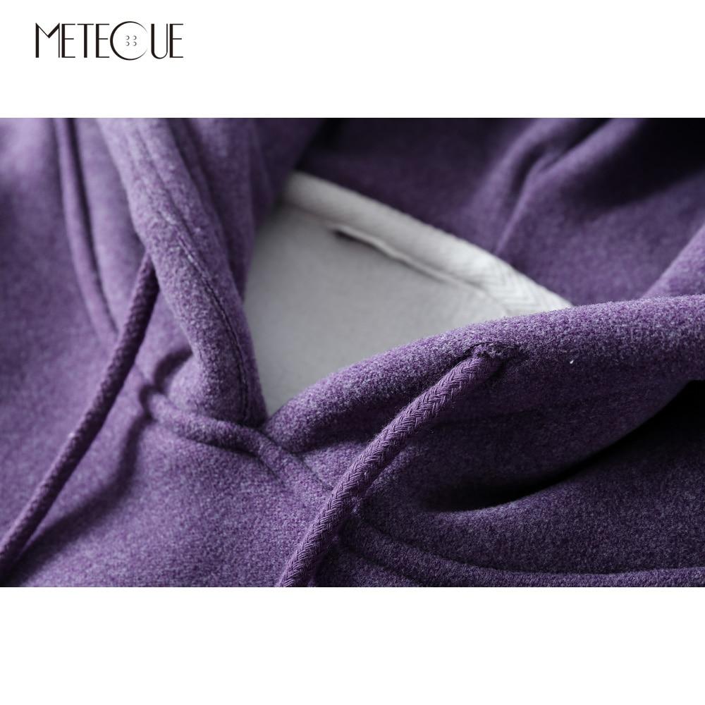 rhodo Purple Lâche Automne Deux Polaire Hiver Marron Pièces Hoodies Faux Capuche Manches Femme Avec Intérieure Femmes Épais deep pourpre 2018 À Sweatershirts Longues gris Eq4Cg1g